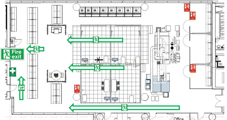 Lab Emergency Escape Route