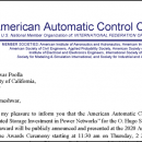 2020 American Automatic Control Council O. Hugo Schuck Best Paper Award